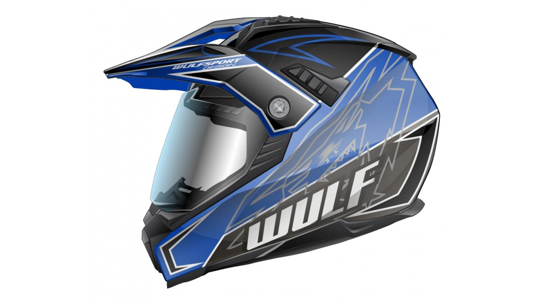 Wulfsport Prima-X motocross trials Helmet Adults